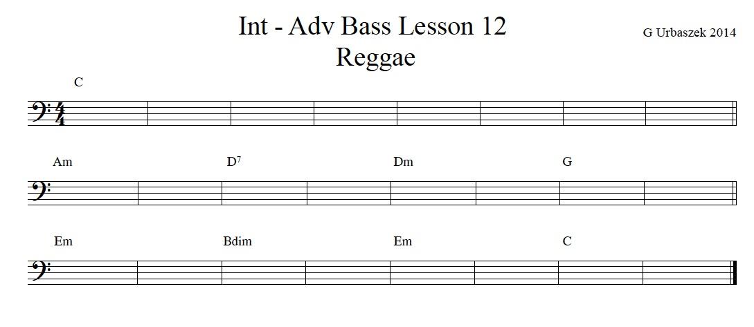 Free Reggae Bass Lesson